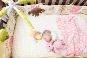 daisy in her crib on a100% organic cotton mattress, Best Organic Crib Mattress