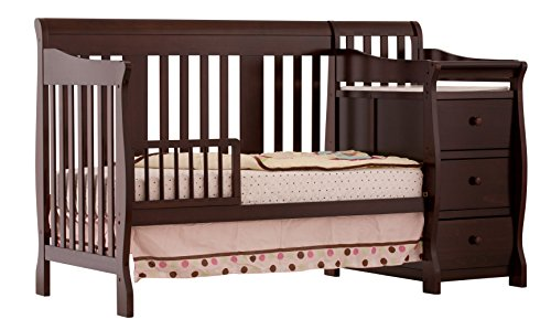 stork craft portofino 4in1 fixed side convertible crib and changer - Convertible Baby Cribs