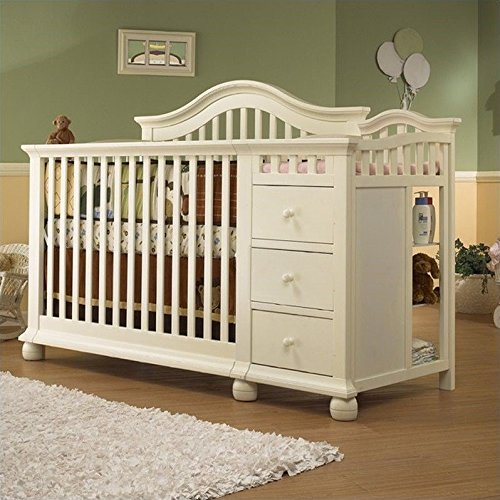 Marvelous Sorelle Cape Cod Crib And Changer With Toddler Rail
